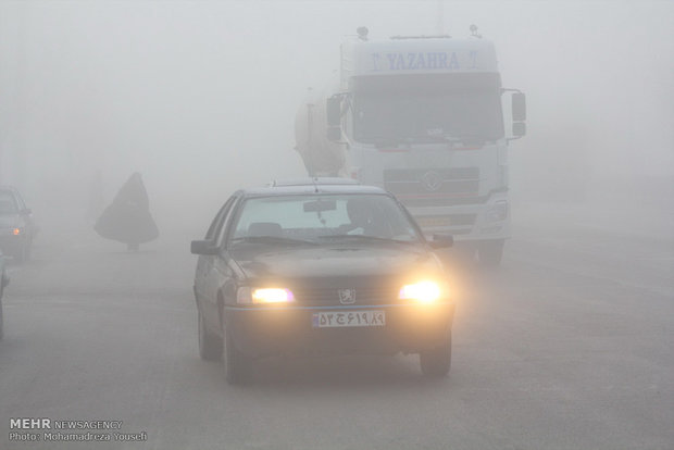 مه گرفتگی در تاکستان استان قزوین