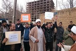 Tahran'da talebeler Suud Rejimini protesto etti