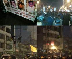 Protests outside Saudi consulate in Mashhad