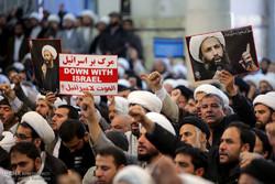 تجمع مردم قم در اعتراض به اعدام شیخ نمر
