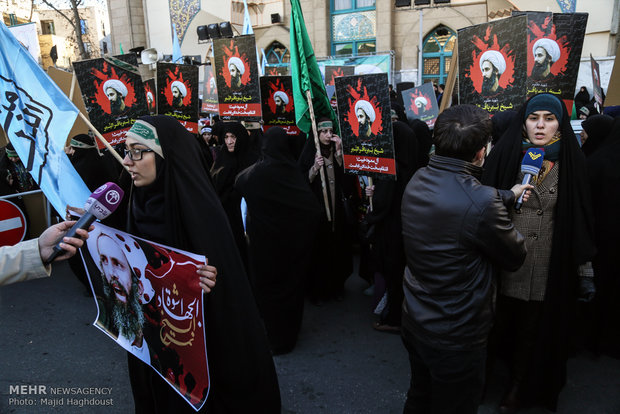 Protest rally to Sheikh Nimr's execution in Tehran