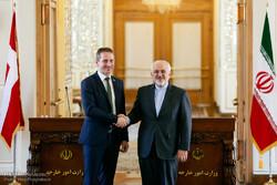 نشست خبری وزرای خارجه ایران و دانمارک