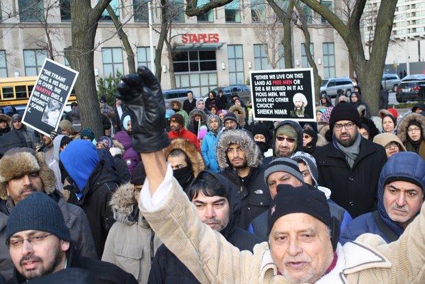 Toronto protests martyrdom of Sheikh Nimr by S Arabia