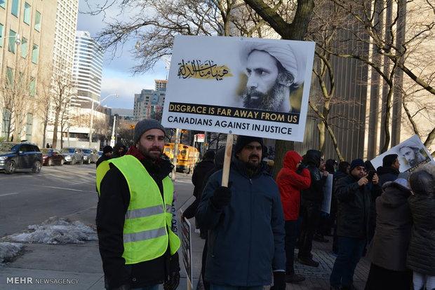 Canadians protest against Sheikh Nimr's martyrdom