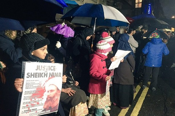 VIDEO: Londoners protest against Sheikh Nimr execution