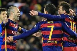 پیروزی پرگل بارسلونا در دربی حذفی/این بار تیر دروازه حریف مسی نشد