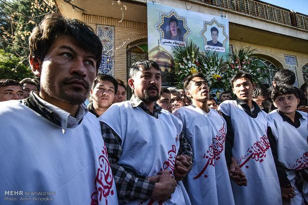 تشییع پیکر 3شهید مدافع حرم و یک جانباخته فاجعه منا در شیراز