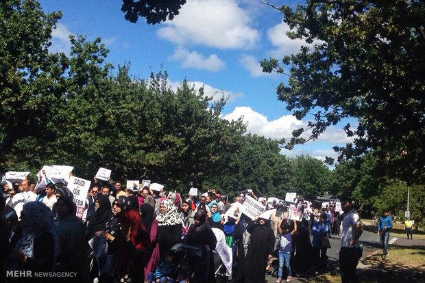 تظاهرات مسلمي استراليا استنكارا لجريمة اعدام الشيخ النمر
