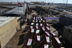 پیکر ۲۸ شهید دفاع مقدس امروز در آبادان تشییع می شوند