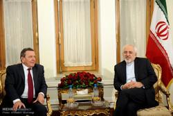 دیدار صدراعظم سابق آلمان و وزیرامورخارجه ایران
