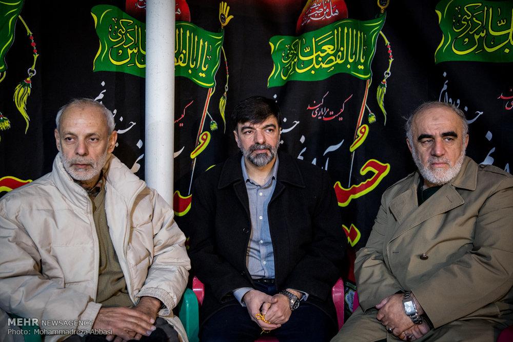 تشییع پیکر سردار علی اصغر فولادگر از  جانباختگان فاجعه منا