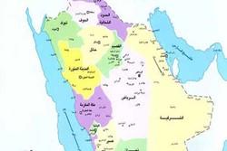 نقشه عربستان