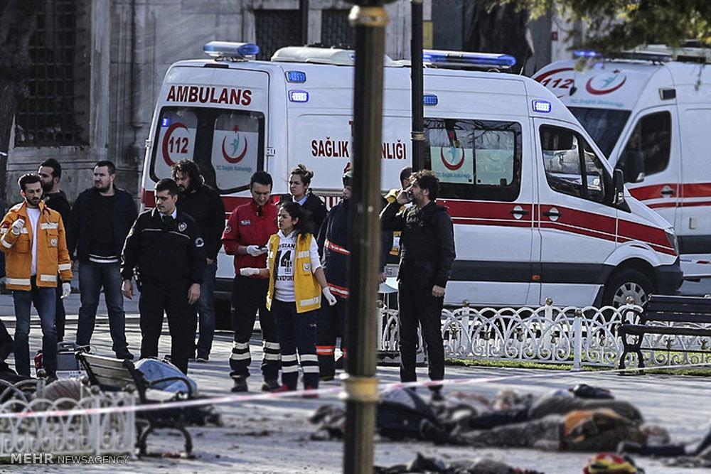 التفجير الارهابي وسط اسطنبول