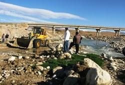 عملیات تثبیت دیواره و کف رودخانه بشار در حال انجام است