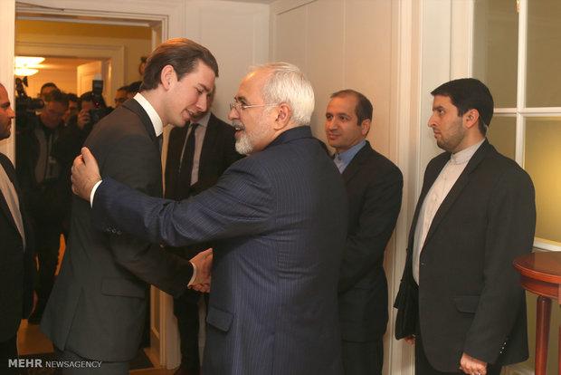 ایرانی وزیر خارجہ سے آسٹریا کے وزیر خارجہ کی ملاقات