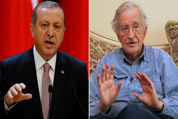 اردوغان و چامسکی