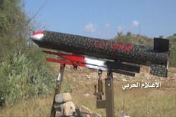 """صاروخ """"زلزال 2"""" يدك مرتزقة العدوان السعودي وآلياتهم في تعز"""