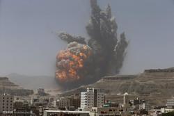 مقتل 14 في غارة جوية للعدوان السعودي على شاحنات وقود في اليمن