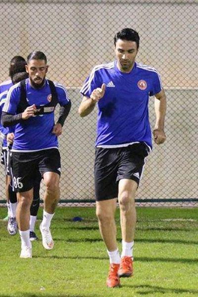 نکونام در تمرین فوتبال العربی حضور یافت