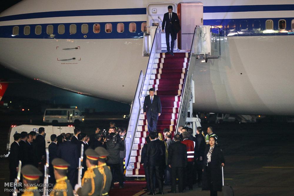 ورود رئيس جمهور چين به ايران