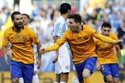 پیروزی دشوار بارسلونا مقابل مالاگا/ بازگشت شاگردان انریکه به صدر
