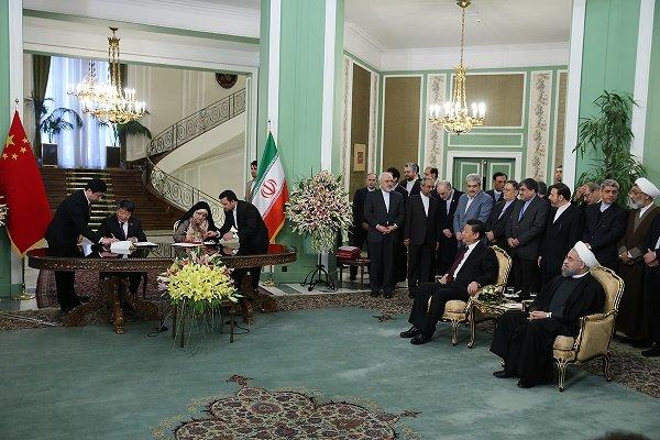 التوقيع على 17 اتفاقية ومذكرة تفاهم بين طهران وبكين