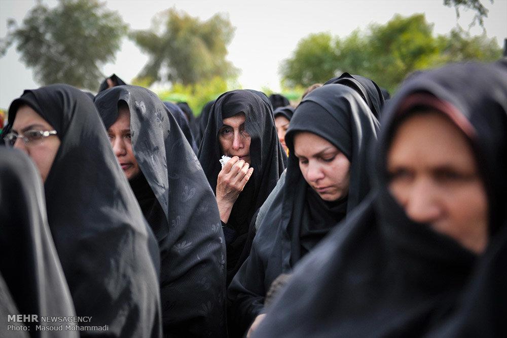 مراسم تشییع پیکر شهدای گمنام در شهر صفی آباد