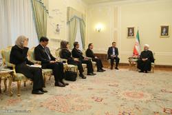 دیدار دون پرامودوینای وزیر امور خارجه تایلند با حجت الاسلام حسن روحانی رئیس جمهور