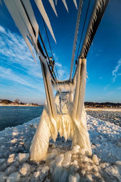 یخبندان در دریاچه میشیگان