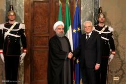 استقبال رسمی رئیس جمهور ایتالیا از رئیس جمهور ایران