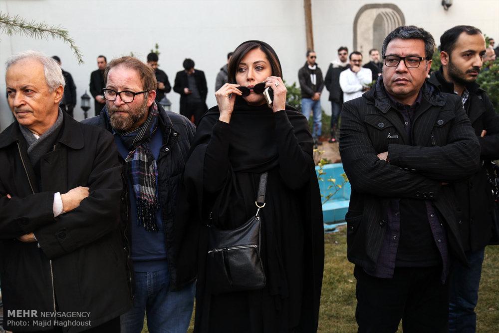 تشییع پیکر یدالله نجفی صدابردار سینما