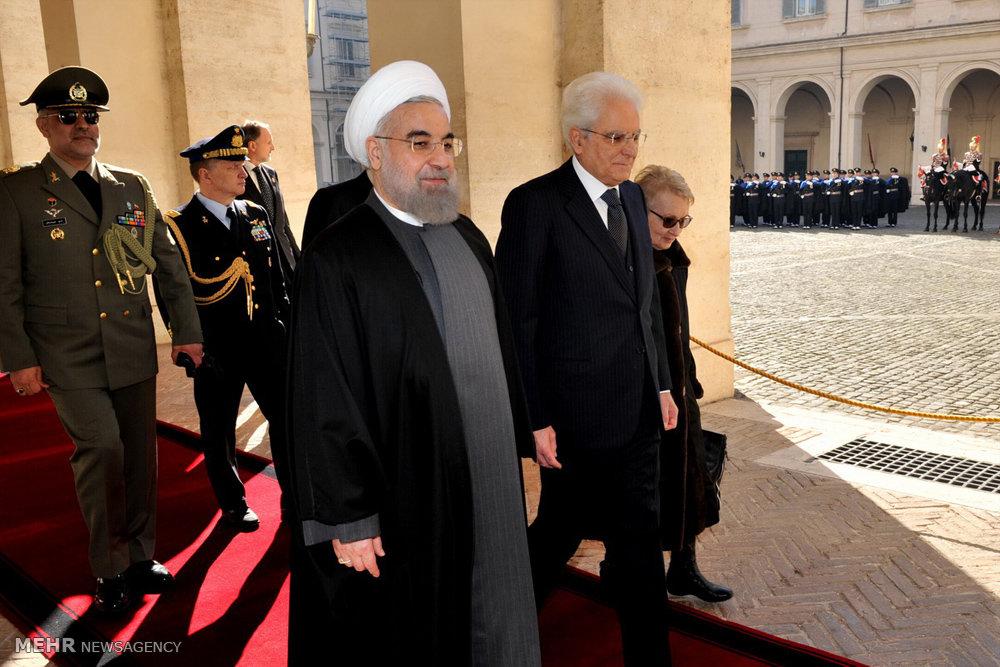 استقبال رسمی رئیس جمهور ایتالیا از رئیس جمهور کشورمان