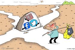 برترین کاریکاتور ها؛ بی اعتمادی به اینترنت و شبکه های اجتماعی