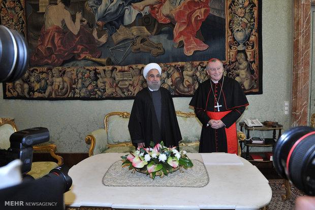 لقاء رئيس الجمهورية الاسلامية الايرانية ورئيس وزراء الفاتيكان