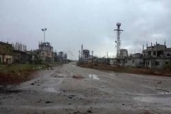 بلدة شيخ مسكين السورية بعد تحريرها من الارهابيين