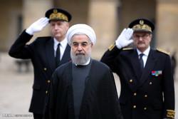 مراسم استقبال رسمی از حجت الاسلام حسن روحانی رییس جمهور در مجموعه اینولید پاریس