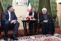 """لقاء روحاني ورئيسي شركتي """"توتال"""" و""""ايرباص"""""""