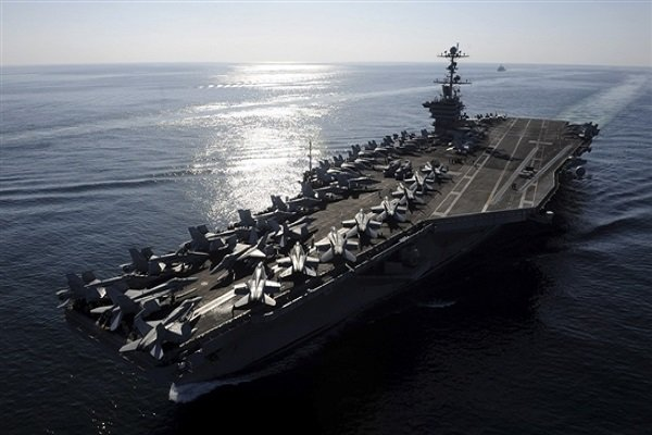 Iran's surveillance drone takes precise photo of US aircraft carrier