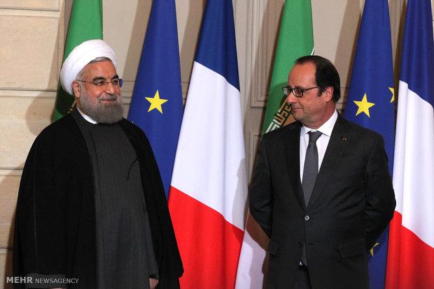 التوقيع على وثائق التعاون بين ايران وفرنسا