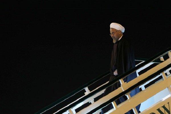 Pres. Rouhani arrives in Tehran Mon.