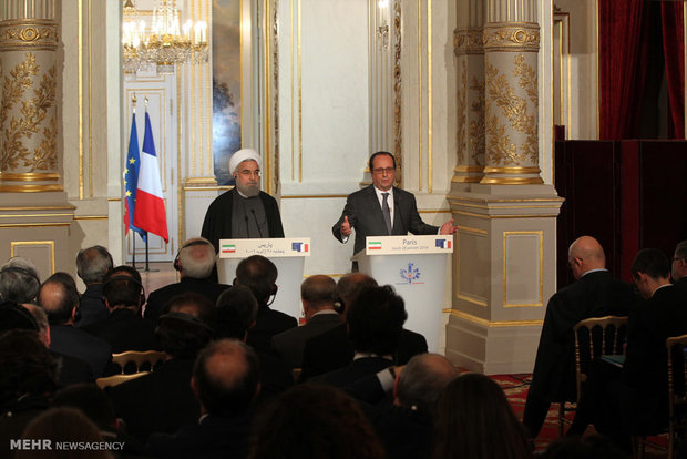 Iran, French presidents hold presser