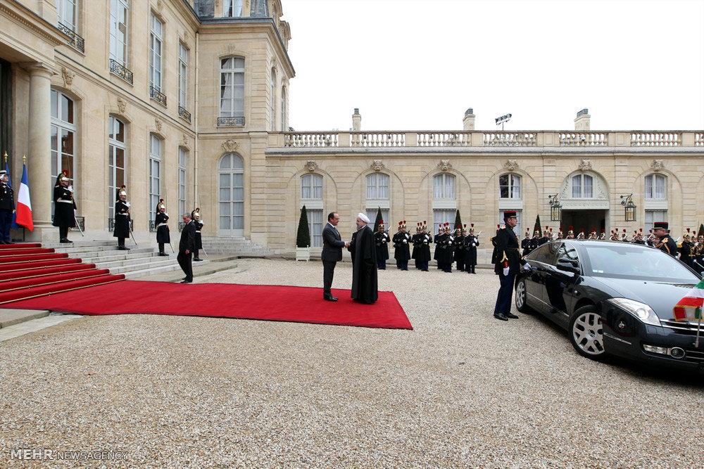 مراسم استقبال رسمی از رئیس جمهور در فرانسه