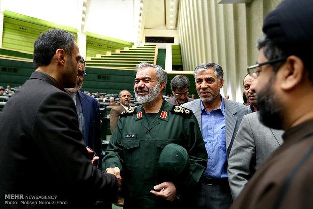مجلس الشورى الاسلامي يستضيف قادة القوة البحرية للحرس الثوري
