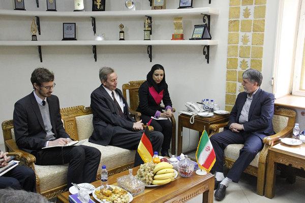 دیدار صالحی با سفیر آلمان