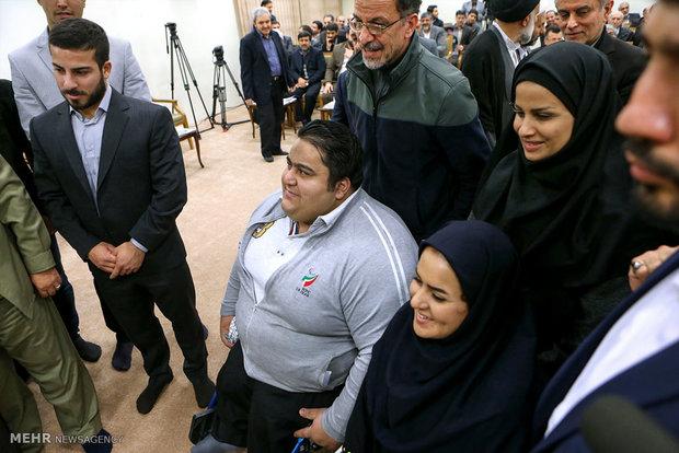 Leader receives staff of Martyr Athletes Natl. Congress