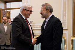 رئيس مجلس الشورى الاسلامي يستقبل وزير الخارجية الالماني