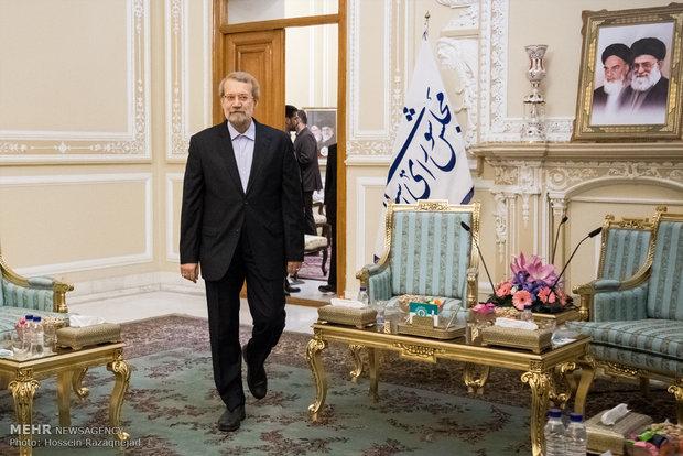 دیدار علی لاریجانی، رئیس مجلس شورای اسلامی و اشتاین مایر، وزیر خارجه آلمان