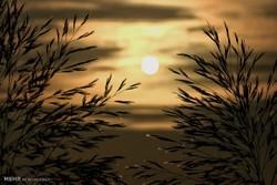 غروب خورشید در آبادان