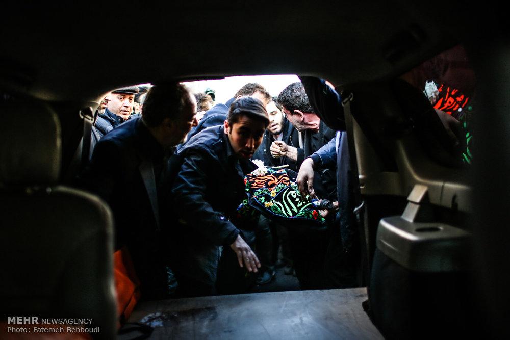 تشییع پیکر مادر شهید احمد پلارک