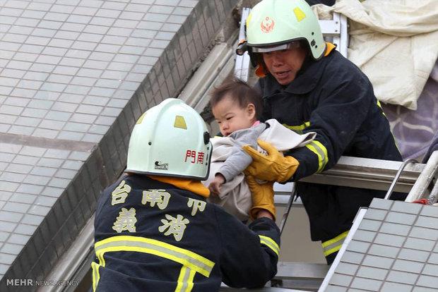 عکس زلزله توریستی تایوان